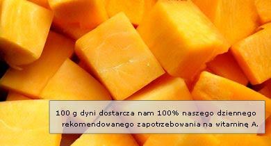 Dynia - składniki odżywcze - witaminy, mikroelementy