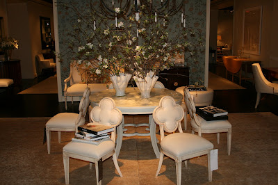 Delicieux A Great Image With Suzanneu0027s Alexandra Quatrefoil Chair, The Collier Table  And Her Chandelier.
