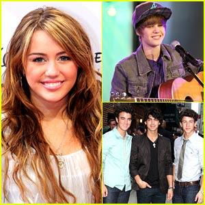 Justin Bieber  Miley Cyrus on Detodofamous  Miley Cyrus Jonas Brothers Y Justin Bieber Presentadores