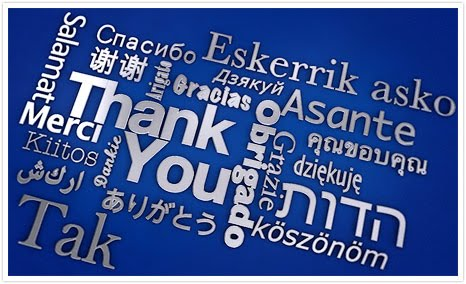 Thank you all languages
