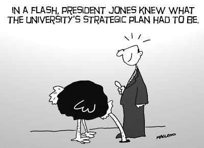 University strategic planning, by MacLeod Cartoons