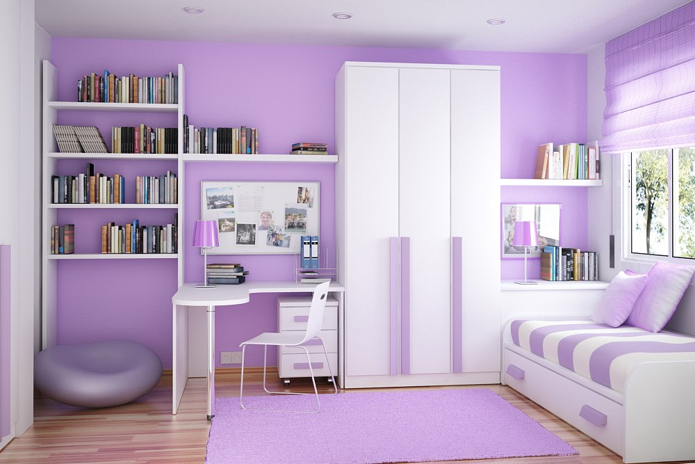 Very Best The Girls Room Purple Room Idea for Kids 1000 x 667 · 99 kB · jpeg