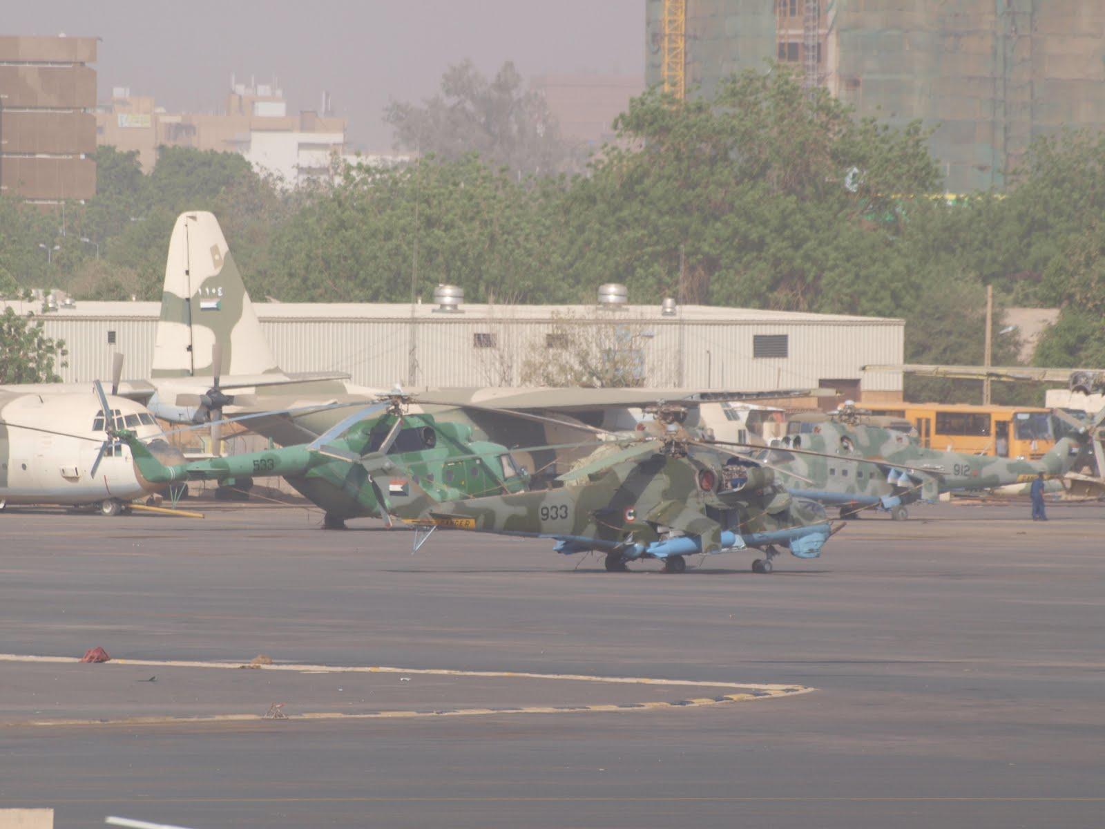 Armée Soudanaise / Sudanese Armed Forces ( SAF ) JARTUM+SUDAN+31-03-2010+MI-17+533+Y+MI-24+933