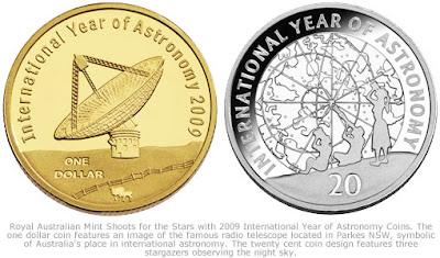 IYA 2009 Coins issued ny Australia
