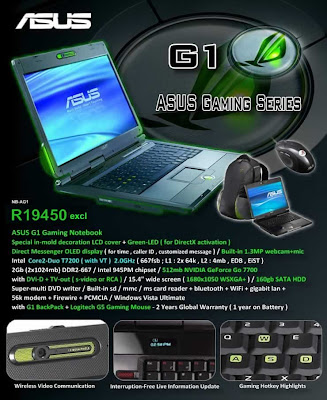 Asus G1-AK005U adv poster