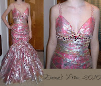 Emma's Salmon Colored Mermaid Prom Dress with Beading Detail