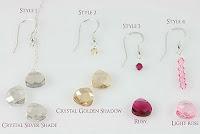 Custom Handmade Crystal Prom Earrings Options by Crystal Allure Beaded Jewelry