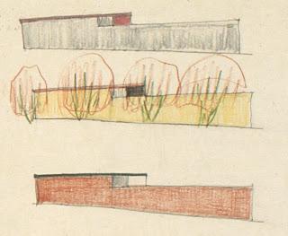 gregory ain - altadena - sketch for park planned homes - set 4