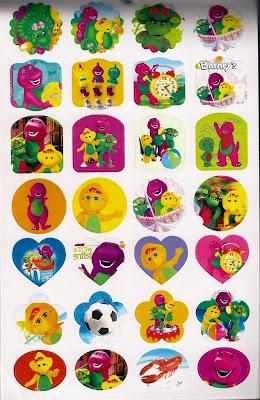 LittleWonderlandFriends Barney Baby Bop  BJ Stickers Sticker