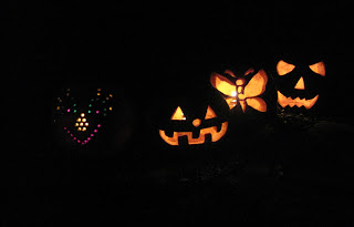 pumpkins after dark