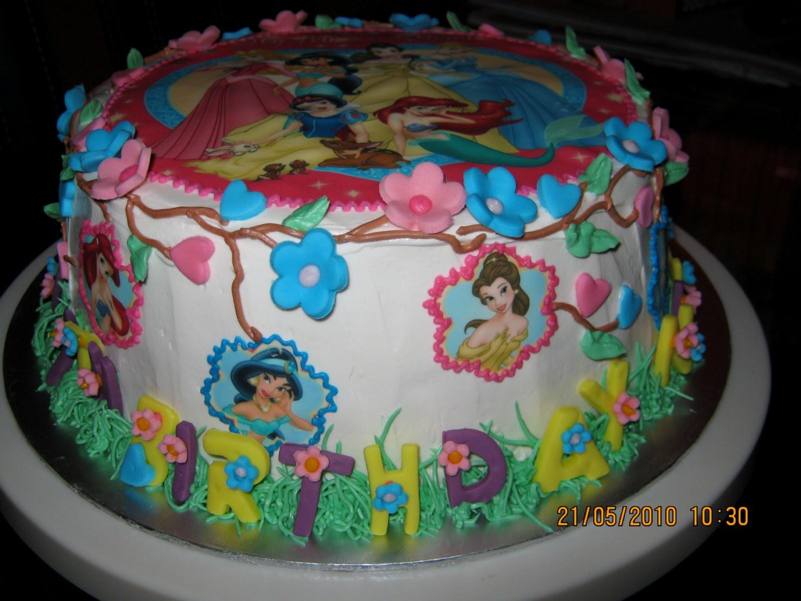 Birthday Cake Edible Pictures : Sweet Bake: Birthday Cake - Princess Edible Image