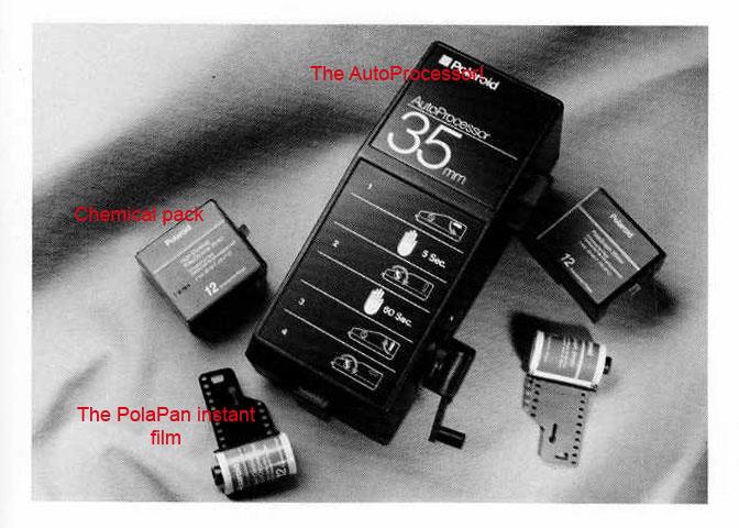 polaroid instant 35mm black and white slide film polapan doug
