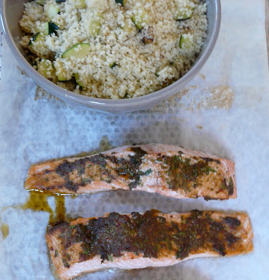 Saumon à la charmoula et graines de couscous