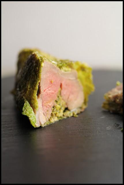Rotis de gigot d'agneau du Connémara en habit vert