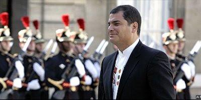 Presidente de Ecuador Rafael Correa