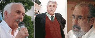 <br />Norberto Galasso, Artemio López y Atilio Borón