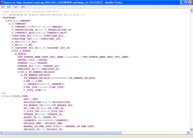 sample purchase order xml file  Learn Oracle XML Publisher: Customizinge Seeded Reports in Oracle ...