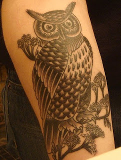 One girl for Athena owl tattoo