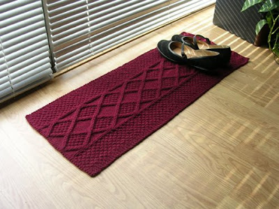 Preview This Free Knitting Pattern: One Skein Shoe Rug