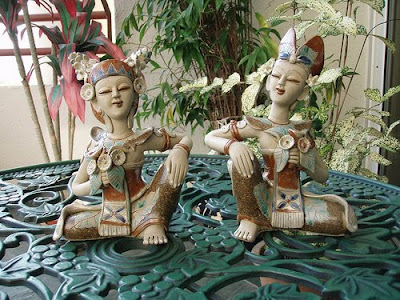 Balinese Wedding Couple ceramic