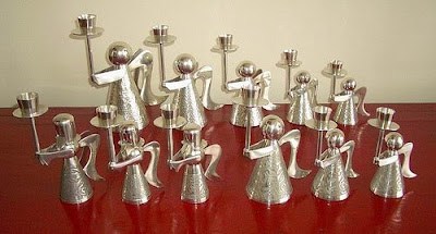 Pewter Candle Holders