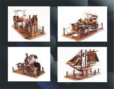 Handicraft Miniature Antique Vehicle, Handicraft, Wood Handicraft