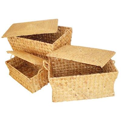 Water hyacinth handicrafts Basket Model 5, Antique Baskets, Natural handicraft, Basket