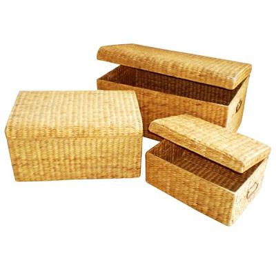 Water hyacinth handicrafts Basket Model 2, Antique Baskets, Natural handicraft, Basket