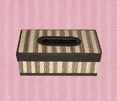 Antique tissu box of cloth material lidi