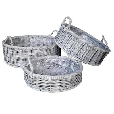Antique white wicker basket, Antique Basket, Collection, natural handicraft, Natural Rattan