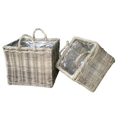 Antique white wicker basket, Basket, Antique Basket, Collection, natural handicraft