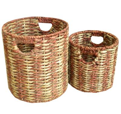 Antique baskets from water hyacinth fibers, basket, antique basket, natural handicraft, handicraft