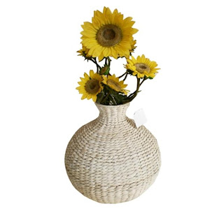 Vase flowers from natural materials, Antique Flower Vase, Vase, Modern Vase, Natural Rattan, Rattan