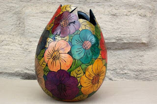 Big Flower Vase, Vase, Modern Vase, Handicraft Design, Handcraft