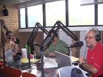 En La Mega 107.3 F.M. con Luis Chataing, Guillermo Díaz y Miguel Arias