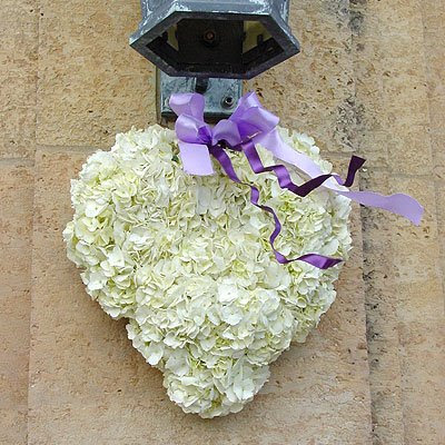 White Hanging Heart