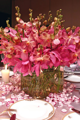 Hot Pink Freesias Centerpiece