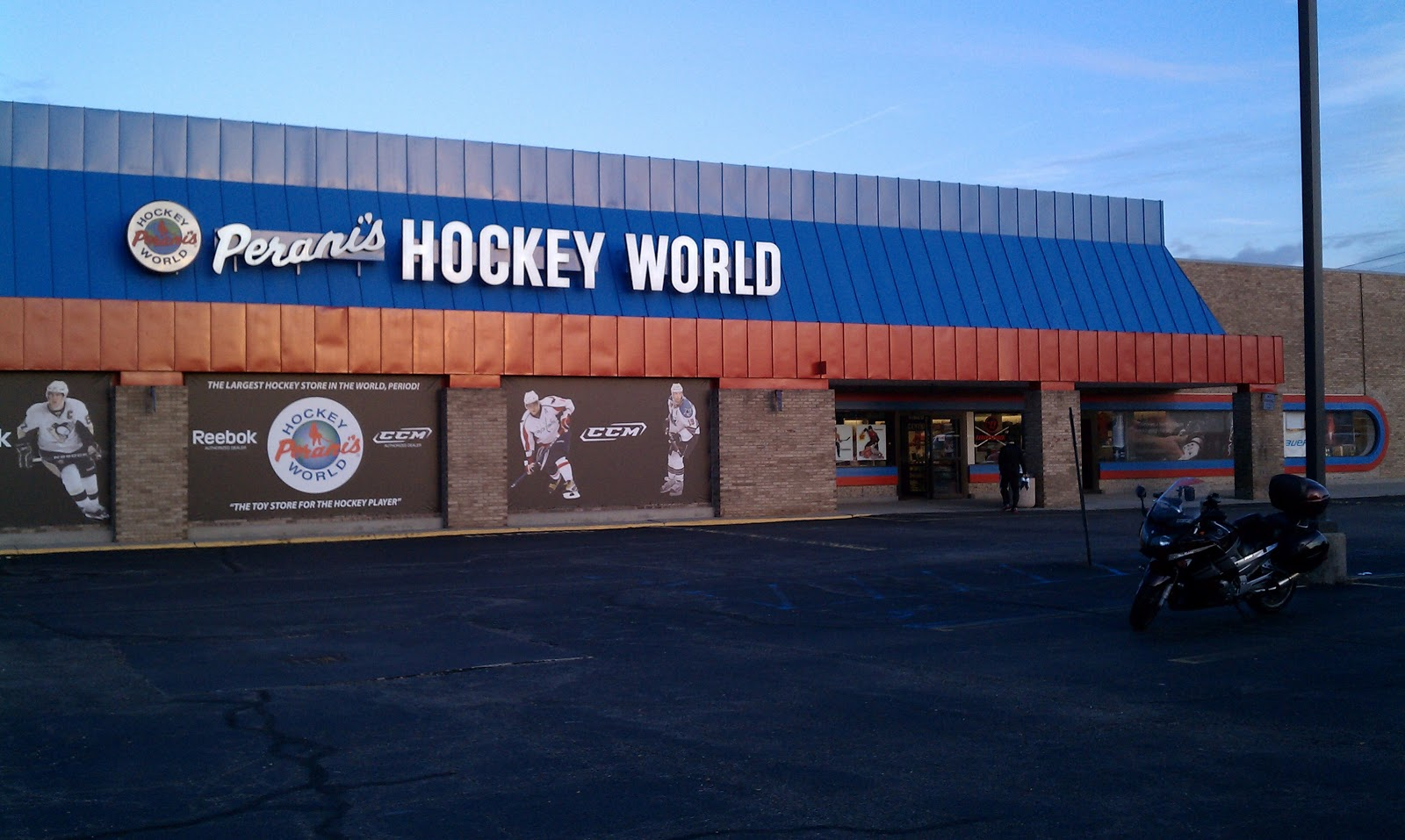 for being the world s largest hockey store it s fitting that it occupies an old toys r us building it makes up for its lack of nostalgic material by its