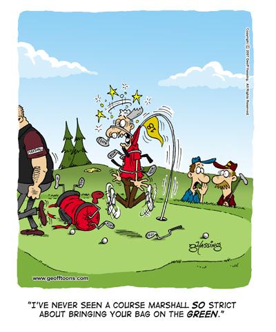 golf cartoon. here#39;s a few golf cartoons