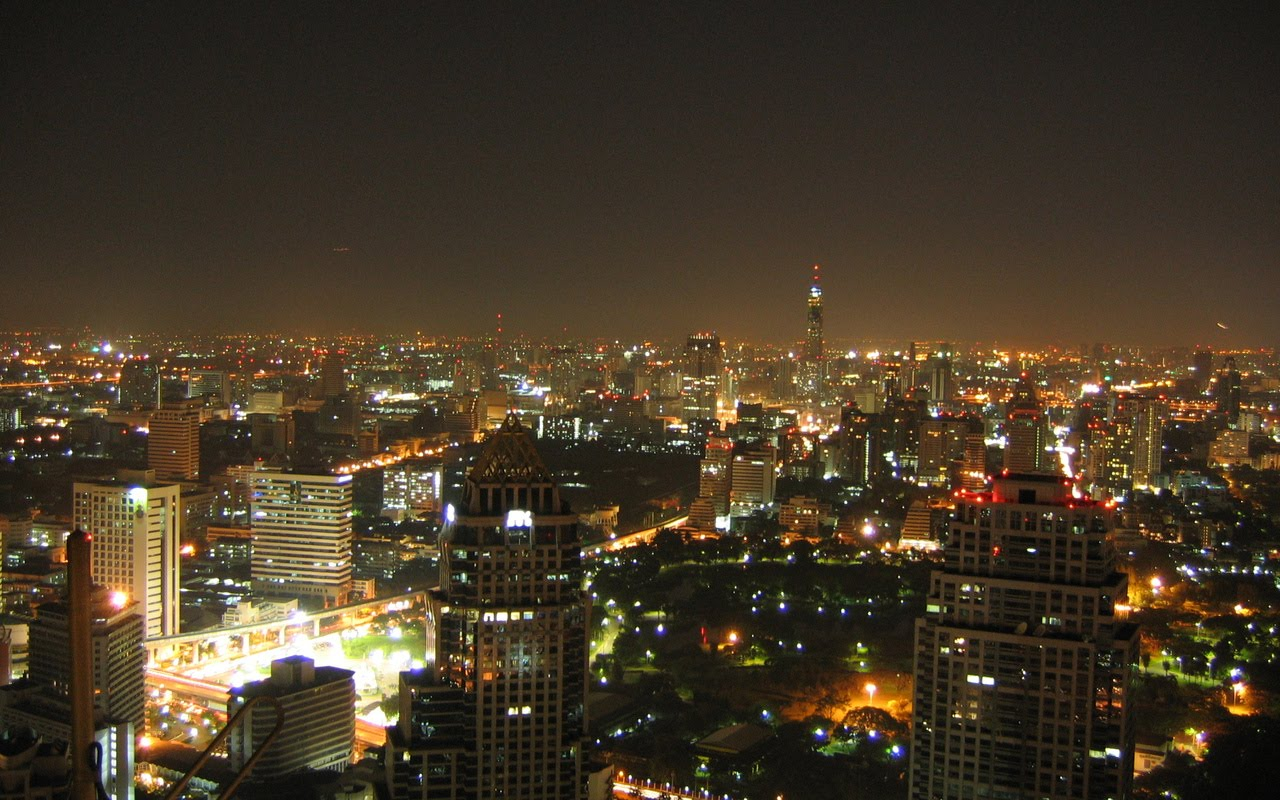 Bangkok Thailand  city photos : Night Cityscape Bangkok, Thailand | Hd Wallpaper