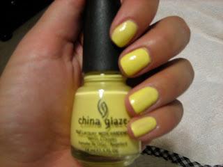 Michele1218 Yellow Nails