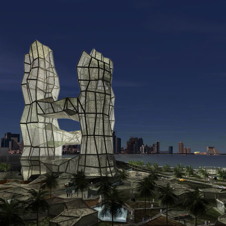A212 architect alpha project doha qatar by xavier for Architecture qatar