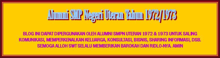 Alumni SMPN Uteran 1972