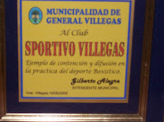 Placa recibida en velada de Box