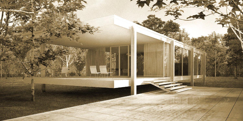 Marzua Casa Farnsworth 1951 Mies Van Der Rohe