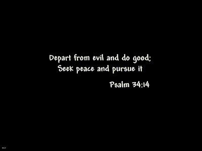 Bible Verse Psalm 34:14