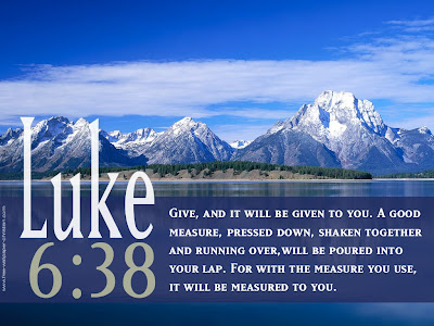Wallpaper Luke 6:38