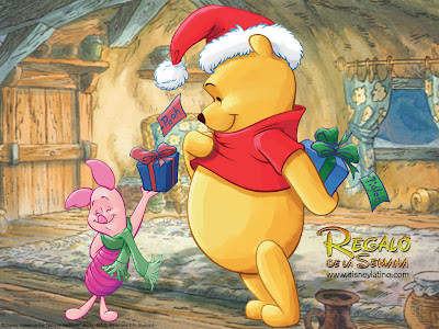 Pooh Christmas Background