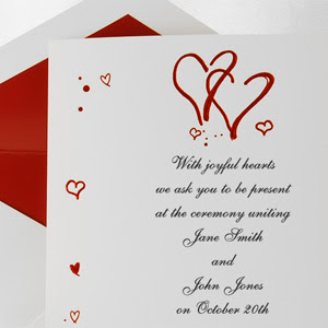 Western Home Decorating Valentines Day Wedding Invitations