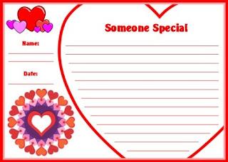 valentine paper stationary